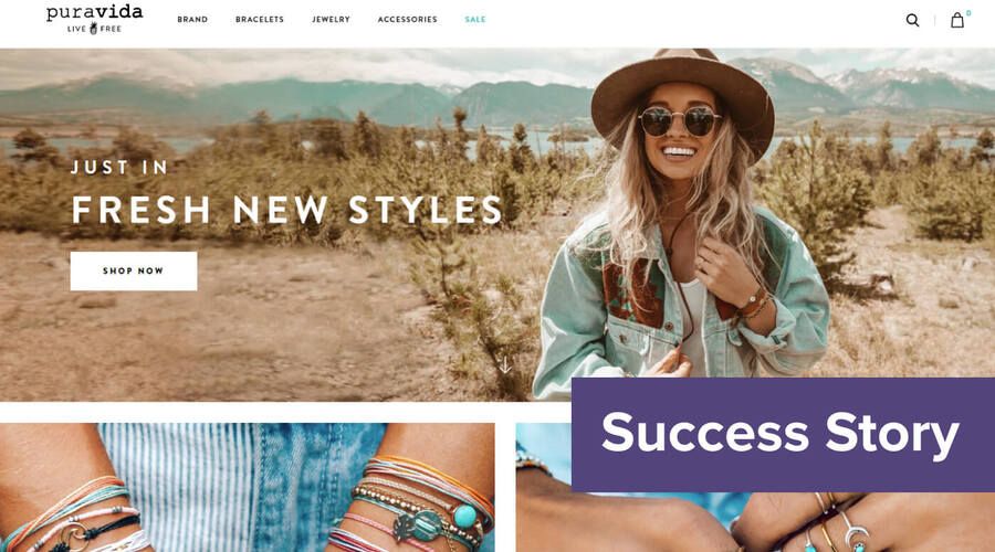 How Pura Vida Bracelets generated +$640,000 in revenue with a low touch web...