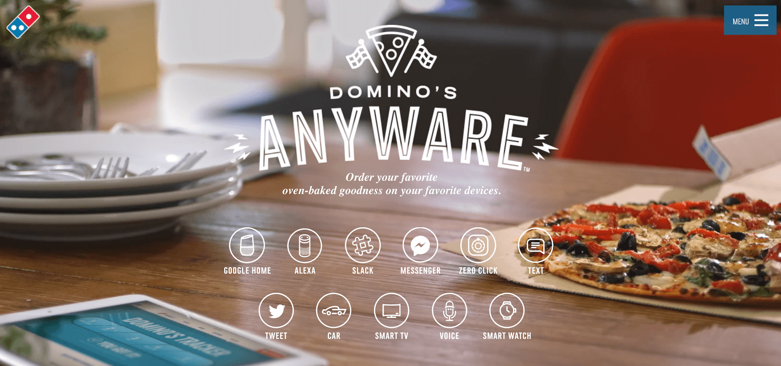 Domino's website anywhere