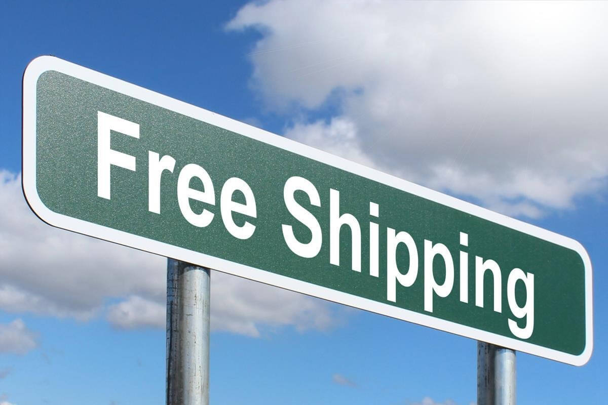 Free shipping green sign