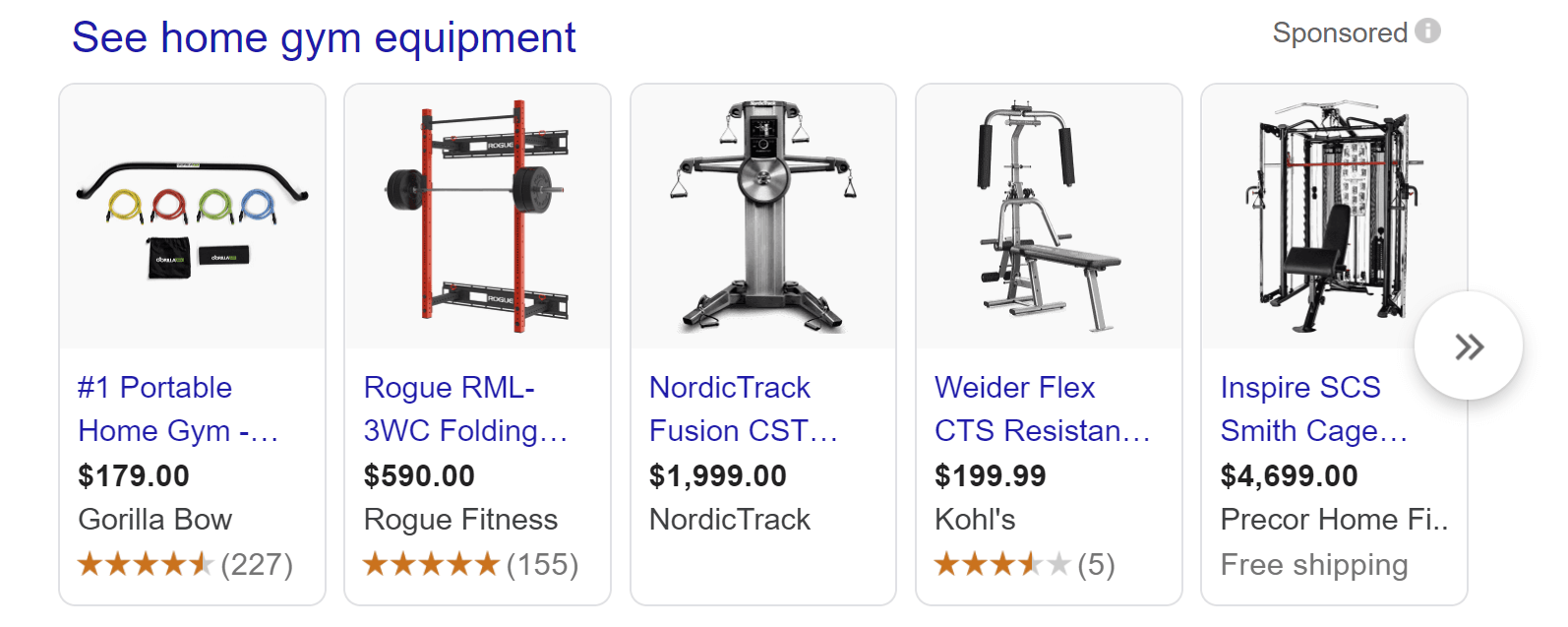 Google search gym epuipment google images recommendations
