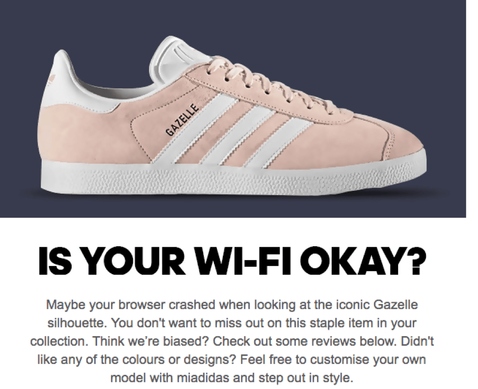 Gazelle pink shoes with is your wi-fi okay strategy