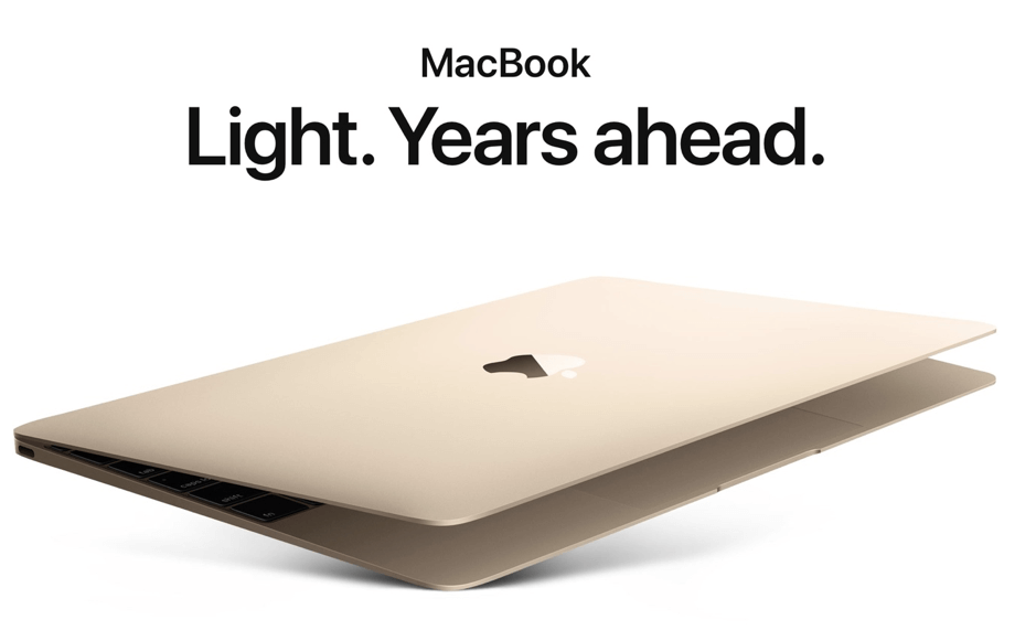 Bronze MacBook Light. Years ahead