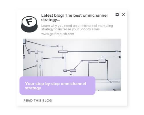 Firepush new blog push notification with visual example