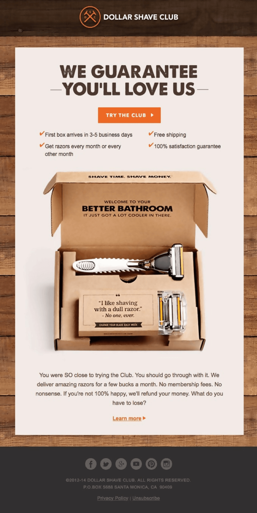 Dolar shave club offer which can't be refused by any customer