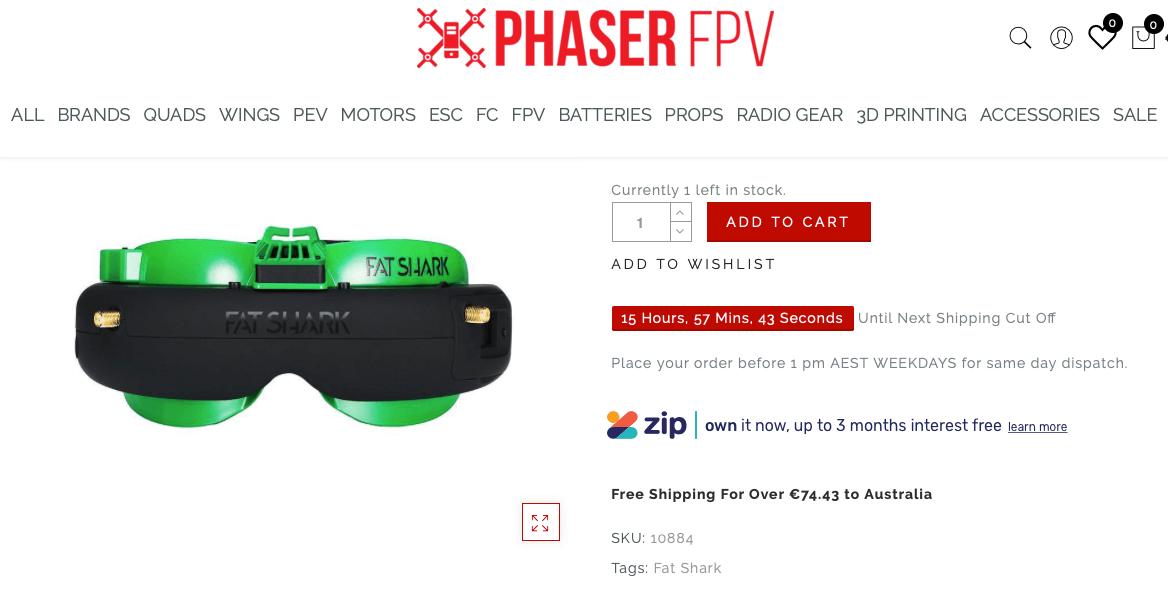 Phaser fpv Fatshark googles