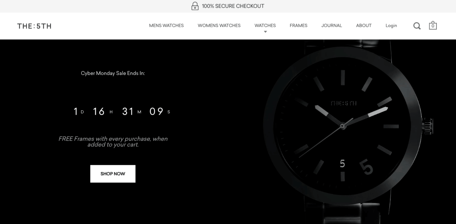 Shopify store The 5th discount code with timer example