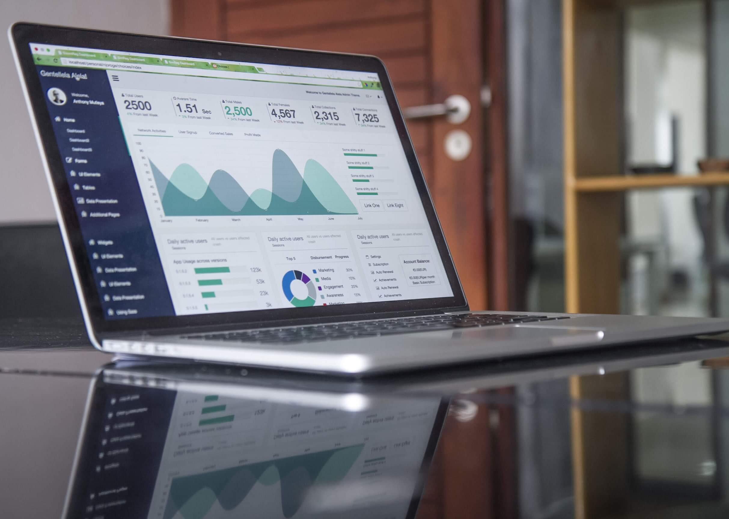 Statisctics on a laptop computer