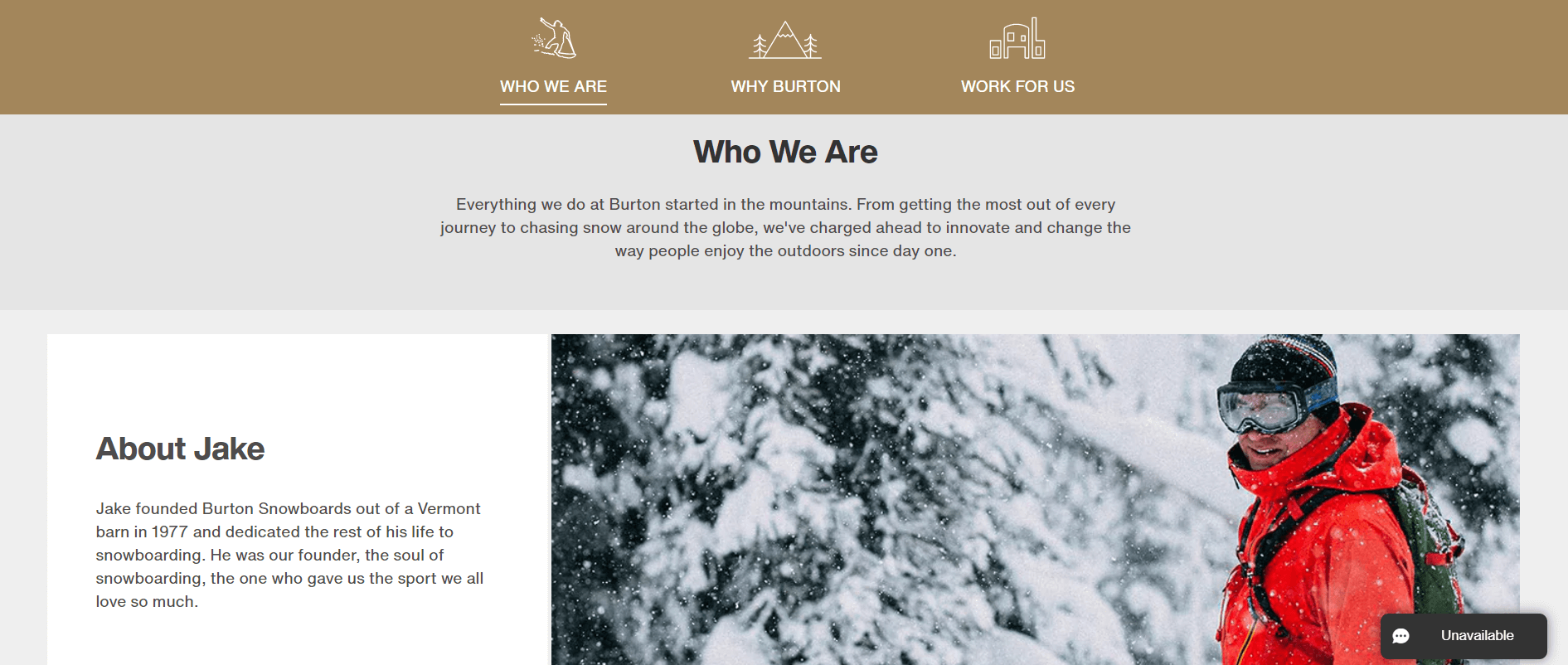 An example of a Who We Are page