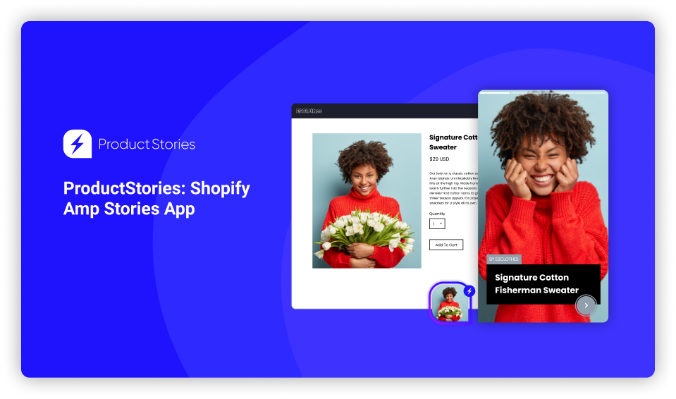 Product Stories app home page