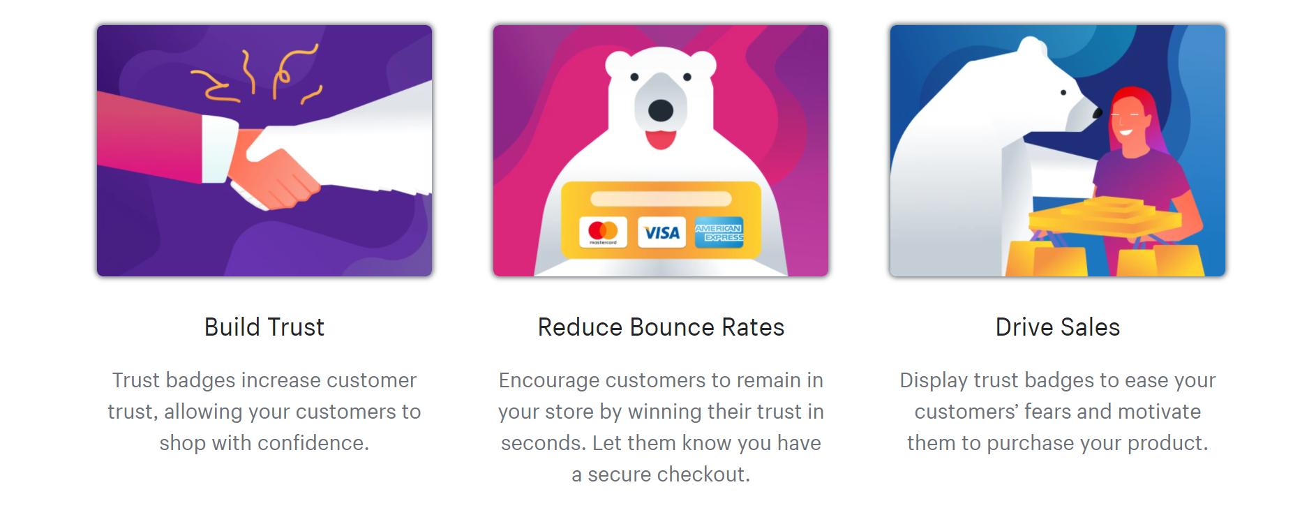 Ultimate Trust Badges 应用登陆页面