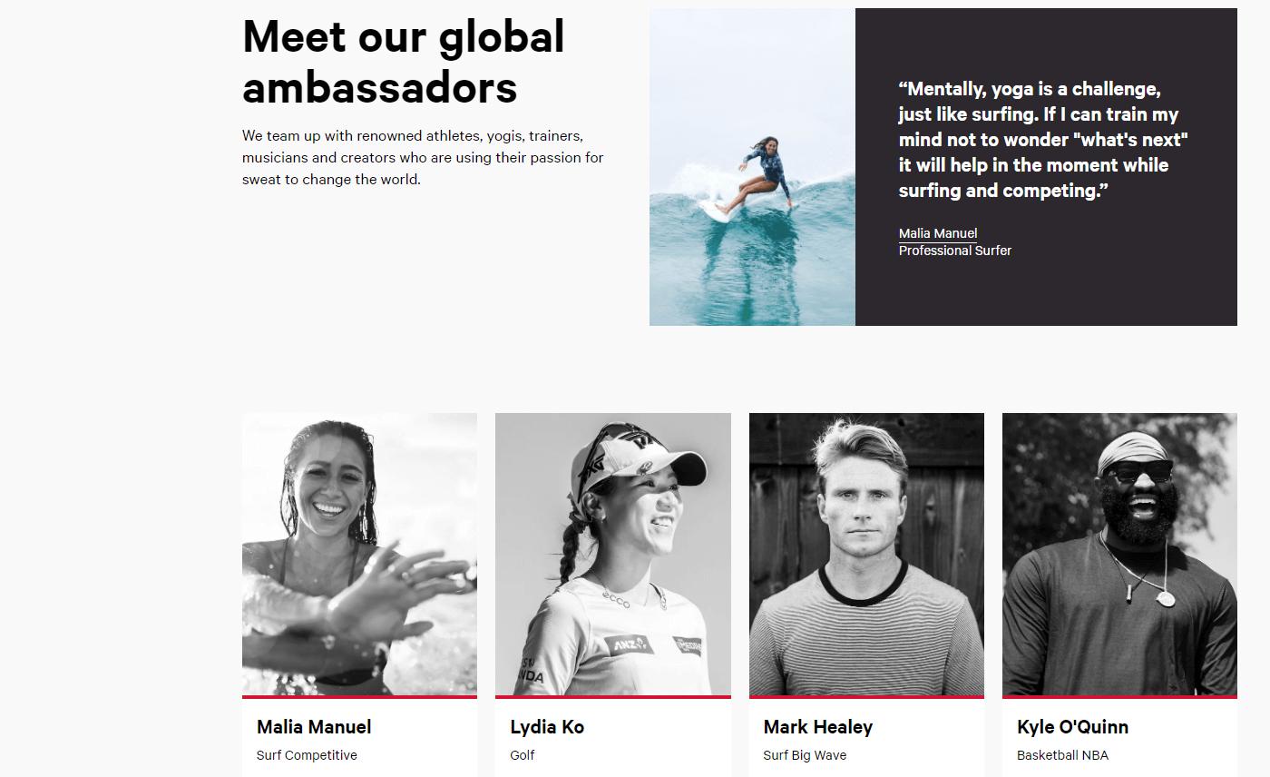 brand ambassador example