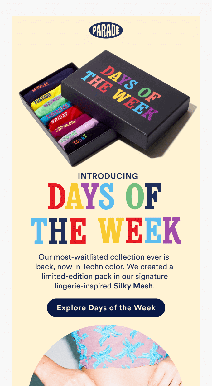 An example of a big and colorful email headline