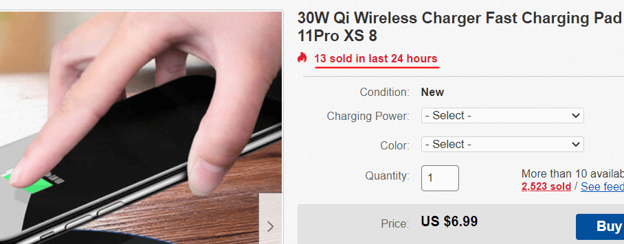 ebay sales example