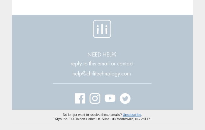 An email address subscribers can use to ask for help