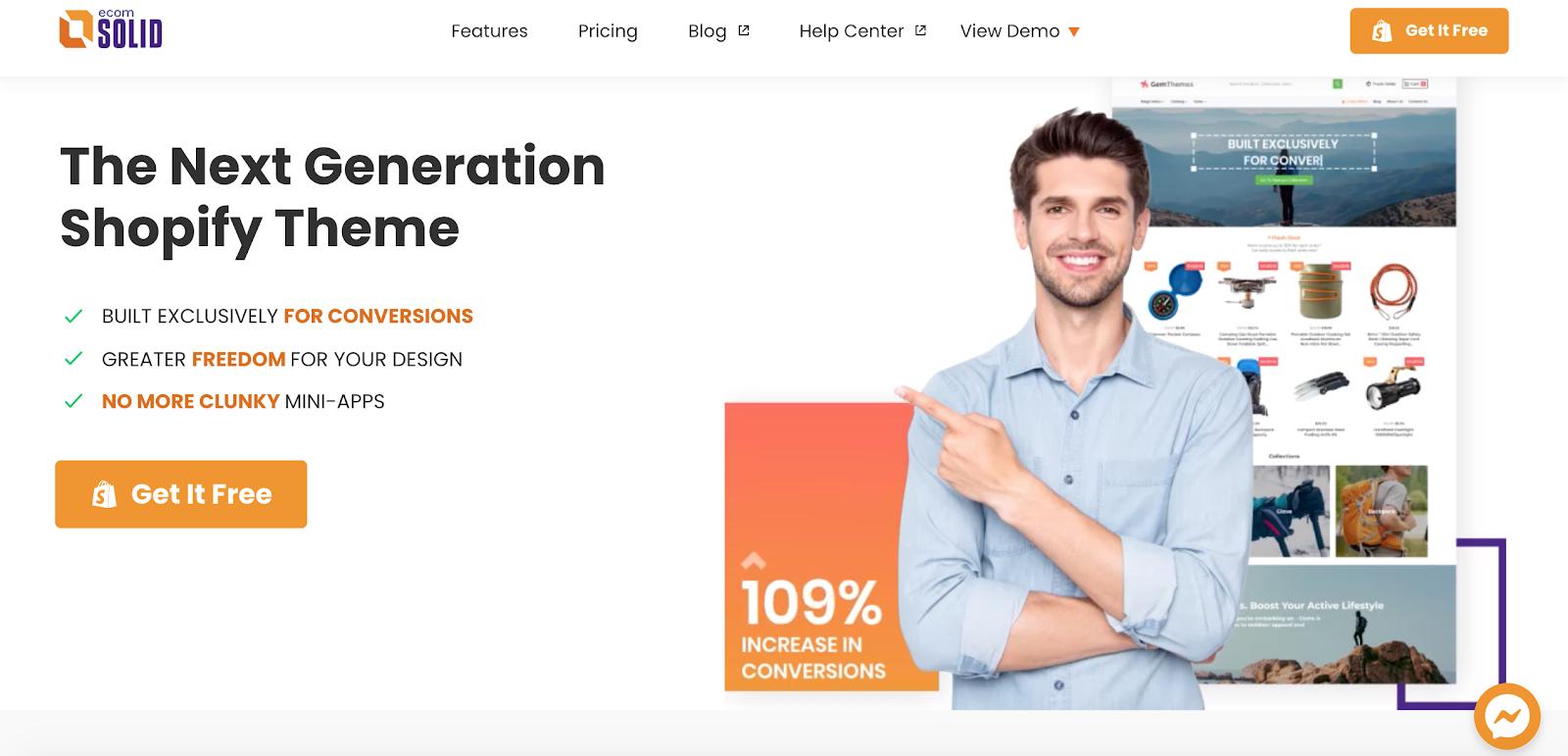 EcomSolid homepage
