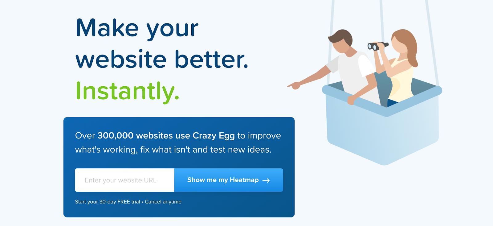 Crazt Egg smart CTA