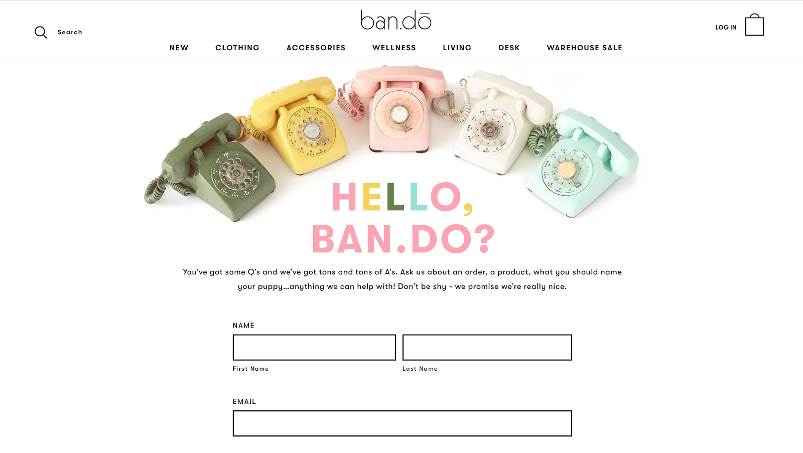 Ban.do contact form