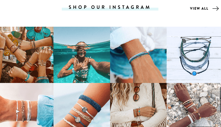 Pura Vida Bracelets has an active community of 1.6 million followers on Instagram