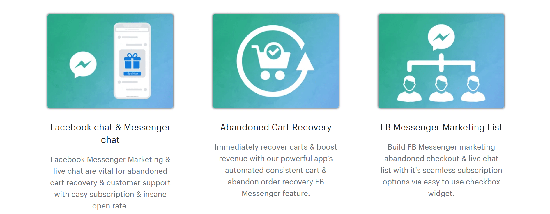 Abandoned Cart FB Chat app benefits