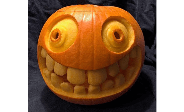 Halloween pumpkin with a big smile