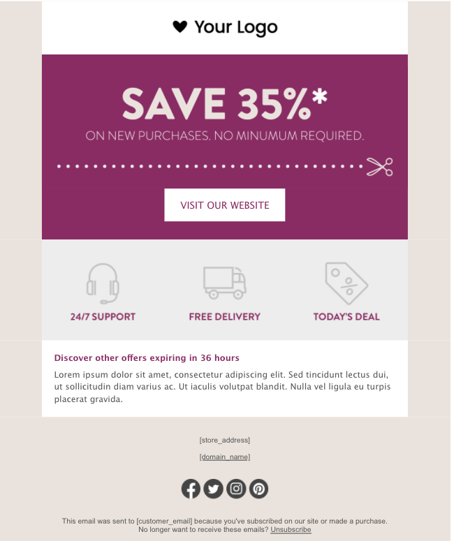 email template example 4